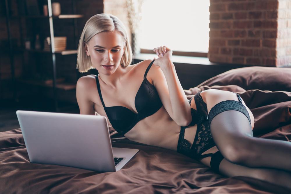 femme coquine sur Internet
